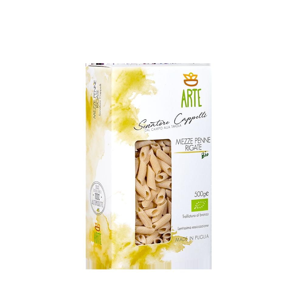 Mezze penne rigate - Pasta Senatore Cappelli - Arte Agricola