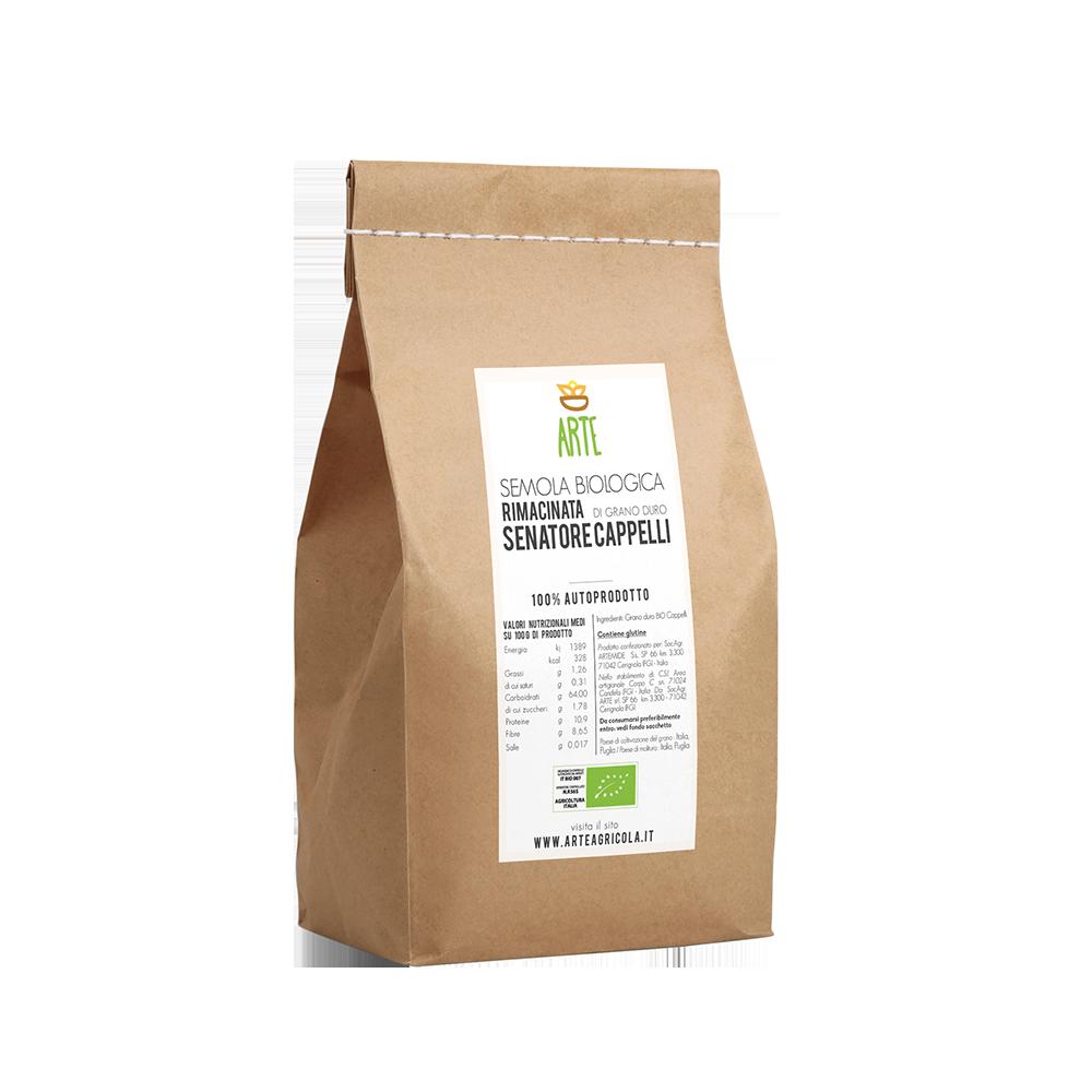 Semola rimacinata di grano duro - Farine e semole - Arte Agricola